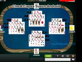 Menang Bermain Capsa Susun Menggunakan Cheat Capsa Susun Android