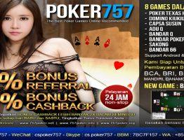 Agen Judi Poker Online Terbesar Poker757