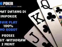 Live Chat Situs Bandar Poker Online Terpercaya Indonesia IniPoker