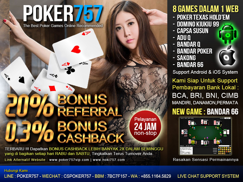 Live Chat BandarQ Online Poker757
