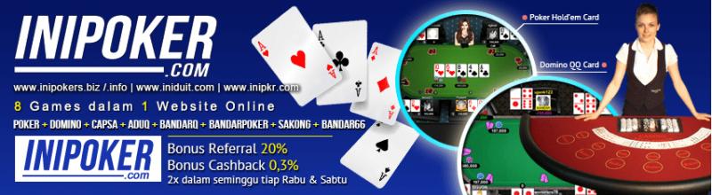 Agen Poker Online Terpercaya iniPoker
