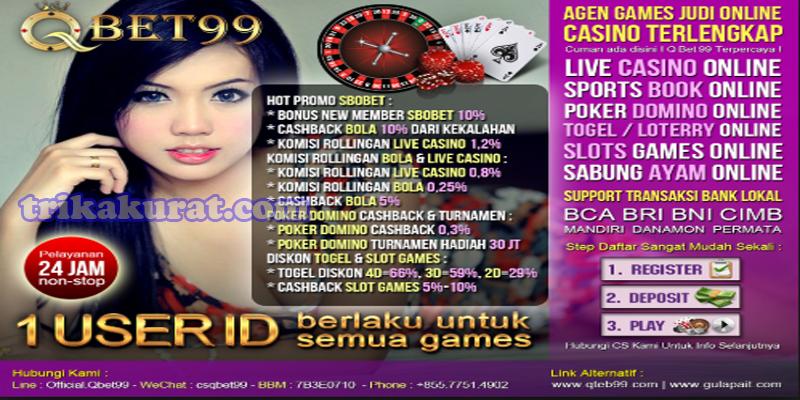 Sbobet Live Casino Terpercaya Agen QBet99