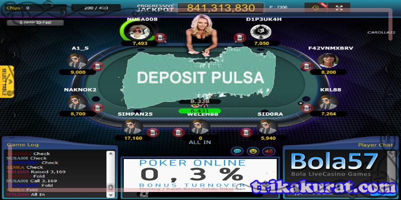 Agen Poker Online Bola57 Deposit Pakai Pulsa