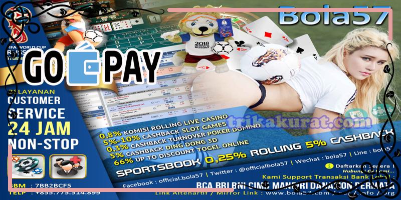 Judi Betting Sportsbook Deposit GoPay Agen Bola57