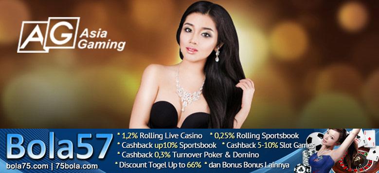 Bola57 Live Casino Online Vendor Asia Gaming