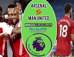 Prediksi Arsenal vs Manchester United 31 Januari 2021