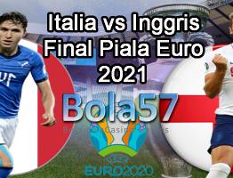 Prediksi Italia vs Inggris Final Piala Euro 2020 12 Juli 2021